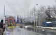 Trafo-Häuschen in Bayreuth brennt. Foto: News5/Holzheimer