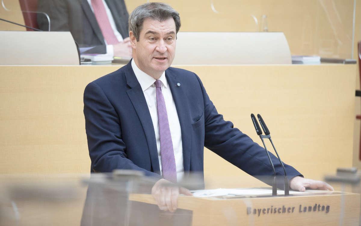 Bayerns Ministerpräsident Markus Söder. Quelle: Bildarchiv Bayerischer Landtag, Foto: Stefan Obermayer