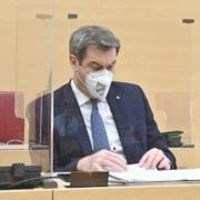 Bayerns Ministerpräsident Markus Söder äußert sich zum Impfgipfel. Quelle: Bildarchiv Bayerischer Landtag, Foto: Rolf Poss