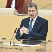 Bayerns Ministerpräsident Markus Söder und Sachsens Ministerpräsident Michael Kretschmer haben eine Covid-19-Allianz geschlossen. Foto: Rolf Poss (Bildarchiv Bayerischer Landtag)