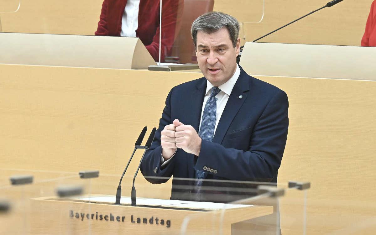 Ministerpräsident Markus Söder informiert heute über die Corona-Lage in Bayern. Symbolfoto: Rolf Poss (Bildarchiv Bayerischer Landtag)