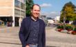 """Tim Pargent, Mitglied des Bayerischen Landtags aus Bayreuth, attestiert der Kanzlerkandidatin Annalena Baerbock einen """"klaren politischen Kompass"""". Foto: Hans-Jürgen Herrmann"""