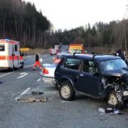 Unfall auf der Bundesstraße bei Kulmbach. Foto: Raphael Weiß