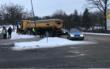 Unfall in Bayreuth: Lastwagen rutscht Straße runter. Foto: Raphael Weiß