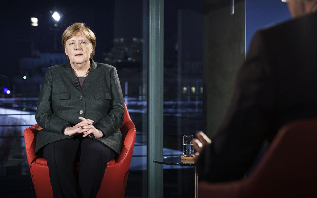 Angela Merkel und Markus Söder sprechen morgen mit den bayerischen Kommunen. Mit dabei sind Thomas Ebersberger und Florian Wiedemann. Symbolfoto: Bundesregierung / Jesco Denzel