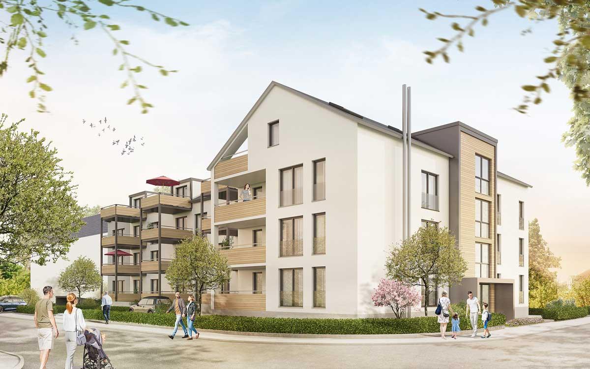 Wohnbauprojekt Hans-Sachs-Straße in Bayreuth. Grafik: Kurt Karl Immobilien