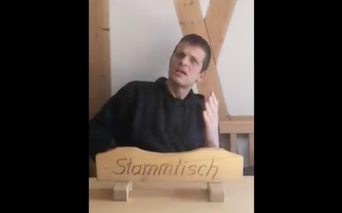 Braumeister Mike Schmitt betreibt die Brauereigaststätte Nikl-Bräu in Pretzfeld (Lkr. Forchheim). Auf Facebook regt er sich über die Corona-Maßnahmen auf. Bildschirmfoto: Redaktion