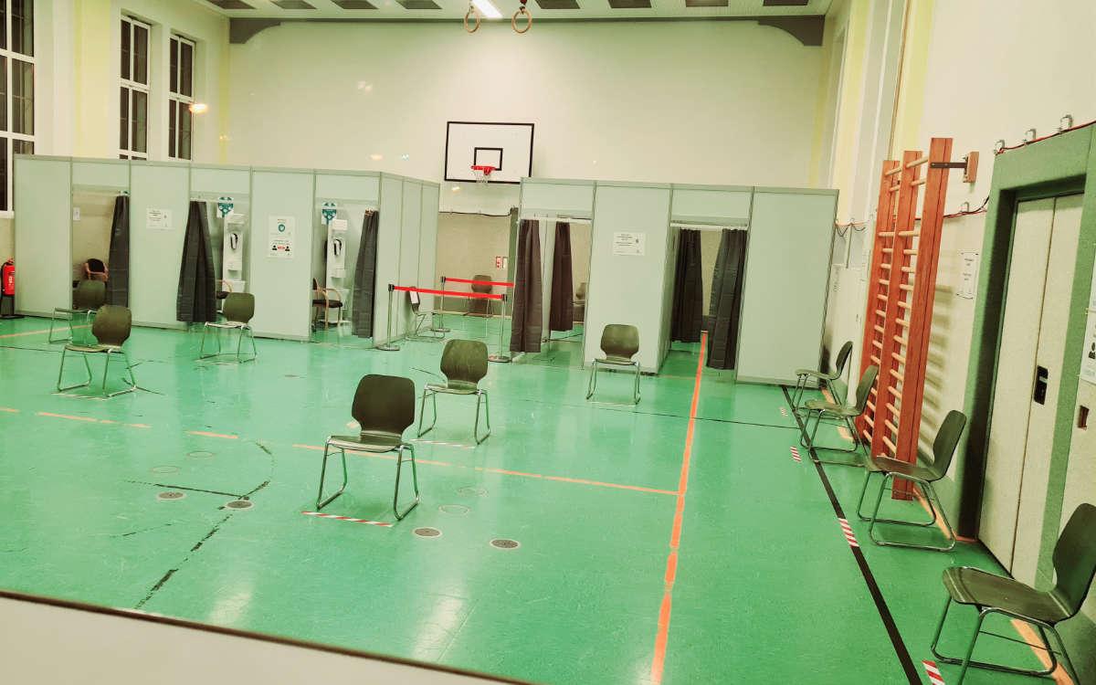 Das dritte Impfzentrum in Bayreuth. Foto: Landratsamt Bayreuth