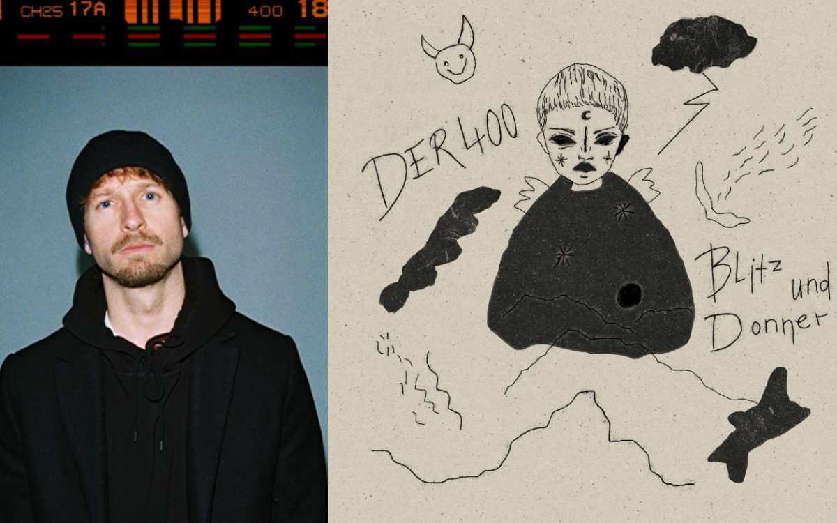 (vlnr.) Der400 und das Cover seines neuen Albums