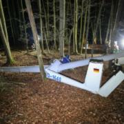 Segelflieger über Oberfranken abgestürzt. Der Pilot hatte riesiges Glück. Foto: News5/Merzbach