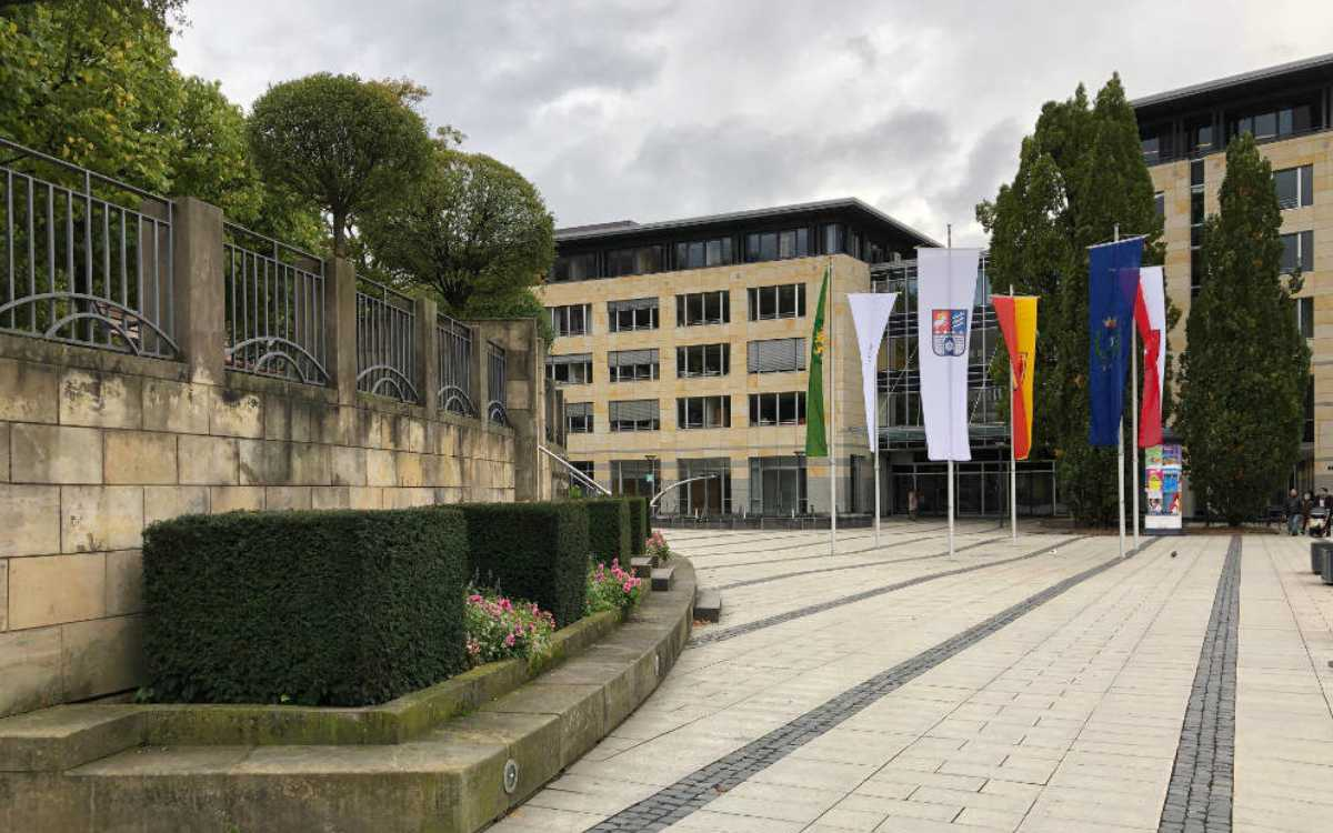 Am La-Spezia-Platz in Bayreuth entsteht ein Corona-Schnelltest-Zentrum. Archivfoto: Redaktion
