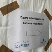 Am Samstag (24. April 2021) nimmt die nächste Corona-Teststation in Bayreuth ihren Betrieb auf. Foto: Raphael Weiß