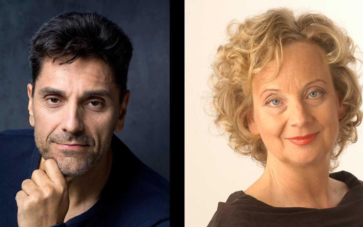 In Bayreuth wird ein Dokumentarfilm gedreht. Er befasst sich primär mit der Corona-Impfung. Produziert wird der Film von Nedy John Cross (links). Eine der Hauptrollen spielt Barbara Baier (rechts). Fotos: Landkreis Bayreuth