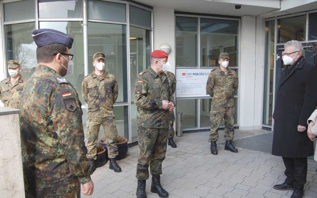 Generäle in Bayreuth zu Besuch mit Oberbürgermeister Ebersberger. Foto: Stadt Bayreuth