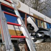 Unfall in Weidenberg an unbeschrankten Bahnübergang. Foto: Raphael Weiß