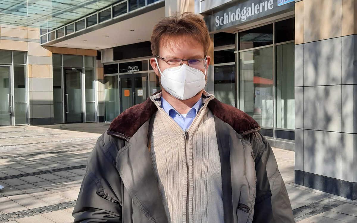 Jörg Nußstein kommt wegen der Arbeit regelmäßig zur Schnelltest-Station. Bild: Jürgen Lenkeit