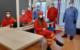 Das Team der DLRG im Corona-Testzentrum Wolfsbach. Bild: DLRG
