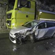 Unfall im Landkreis Kulmbach. Foto: Polizei Stadtsteinach