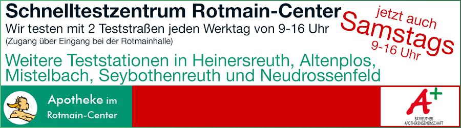 Schnelltestzentrum Rotmain-Center