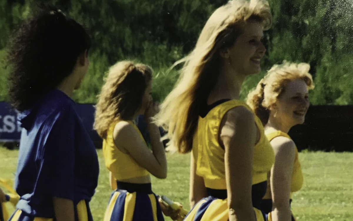 Die Bayreuther Cheerdancers wurden 1990 gegründet. Damals standen sie bei den Spielen der Football-Mannschaft auf dem Feld. Foto: Privat