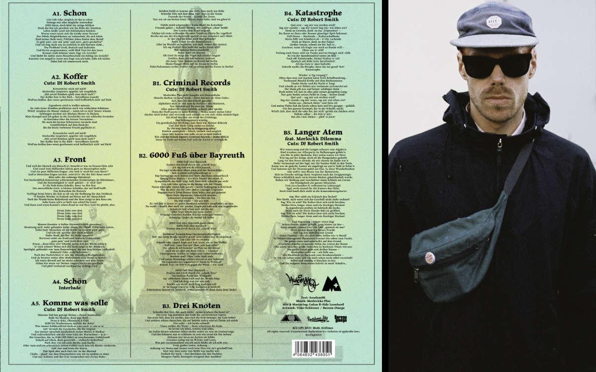 Das Backcover der neuen LP