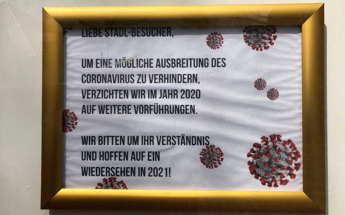 """Brandenburger Kulturstadl in Bayreuth: """"Hoffen auf ein Wiedersehen in 2021"""". Bild: Jürgen Lenkeit"""