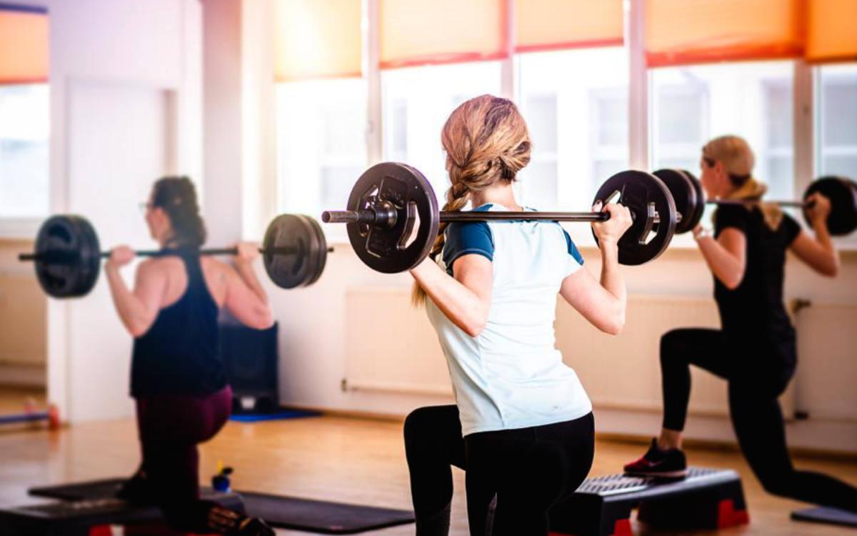 Training im Fitnessstudio LAFIT vor dem Corona-Lockdown. Bild: Felix Decker/Fitnessstudio LAFIT