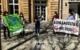 """""""Keine Kohle für die Kohle"""" - das forderte Fridays for Future Bayreuth am 14.5.21 vor der Commerzbank-Filiale in der Bayreuther Fußgängerzone. Bild: Jürgen Lenkeit"""