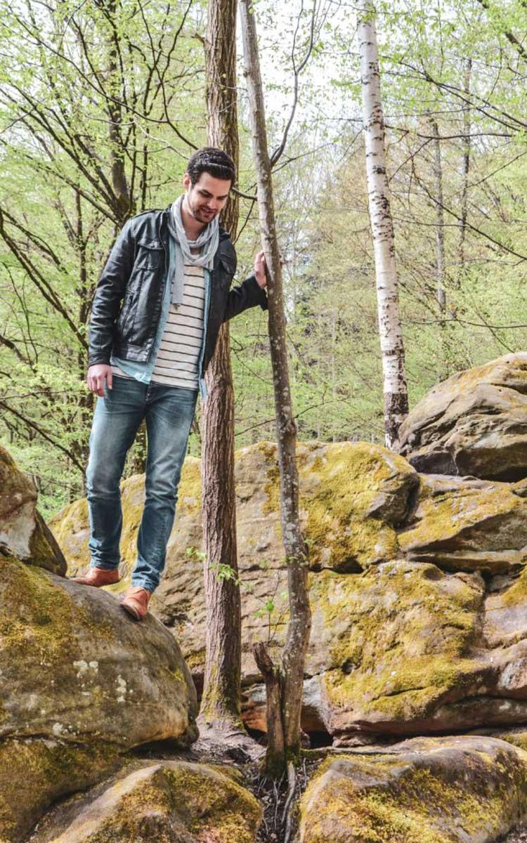 Florian Baier im Schlosspark Fantaisie in Eckersdorf. Foto: Alexandra Baier