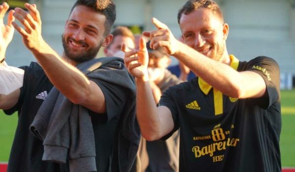 Nach dem Finalsieg im Ligapokal am Dienstag (8.6.2021) geht es für die SpVgg Bayreuth in die 1. Hauptrunde im DFB-Pokal. Das ssagen die Altstädter. Archivfoto: Raphael Weiß