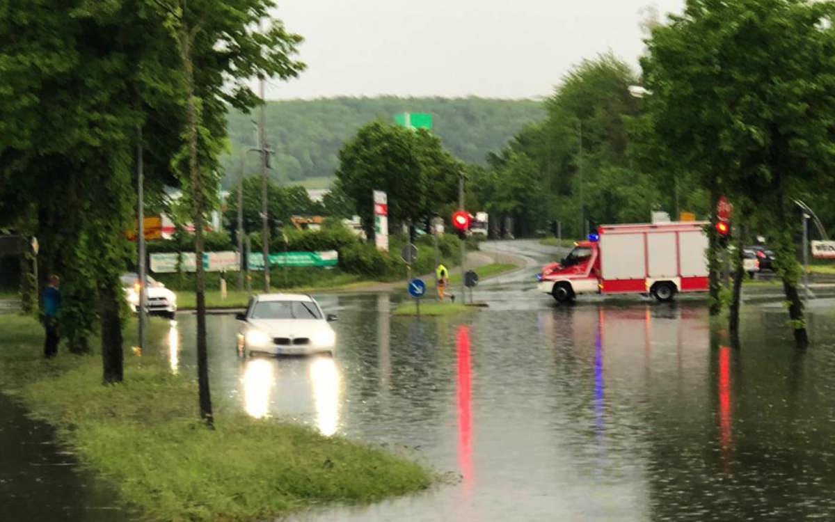 Unwetter über Bayreuth. Diese Gebiete in der Stadt wurden besonders vom Unwetter getroffen. Foto: privat