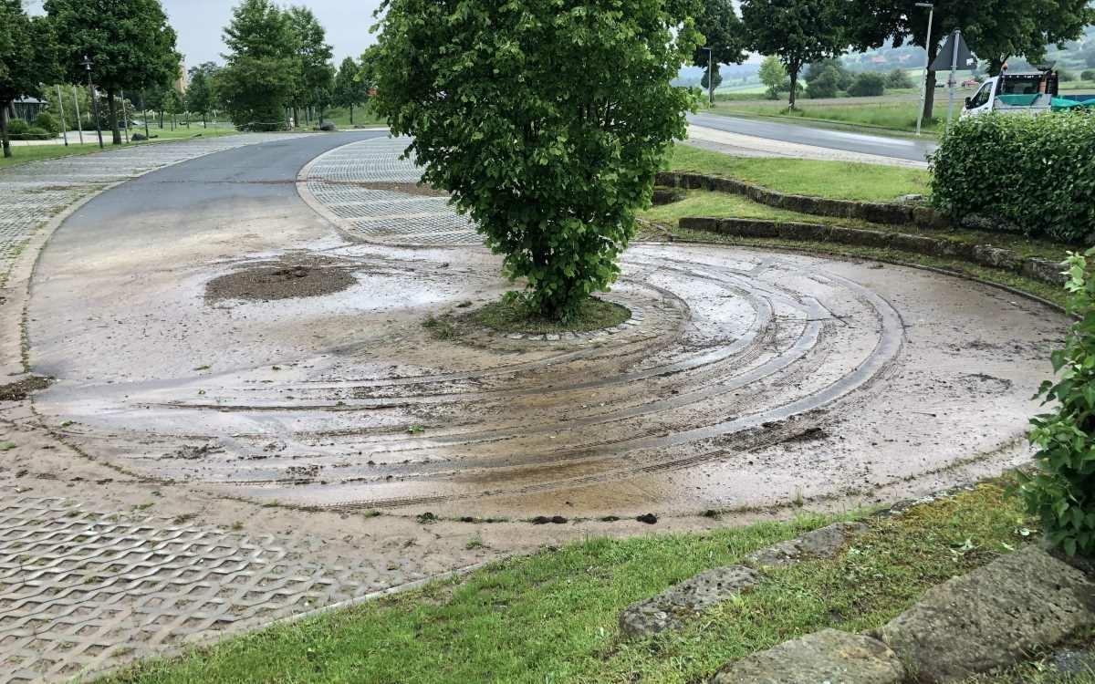 So sieht es nach den heftigen Unwettern in Bayreuth und Binldach aus. Foto: Raphael Weiß