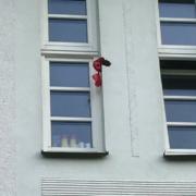 Die Studiobühne Bayreuth ist mit Kot beworfen worden. Bild: Studiobühne Bayreuth