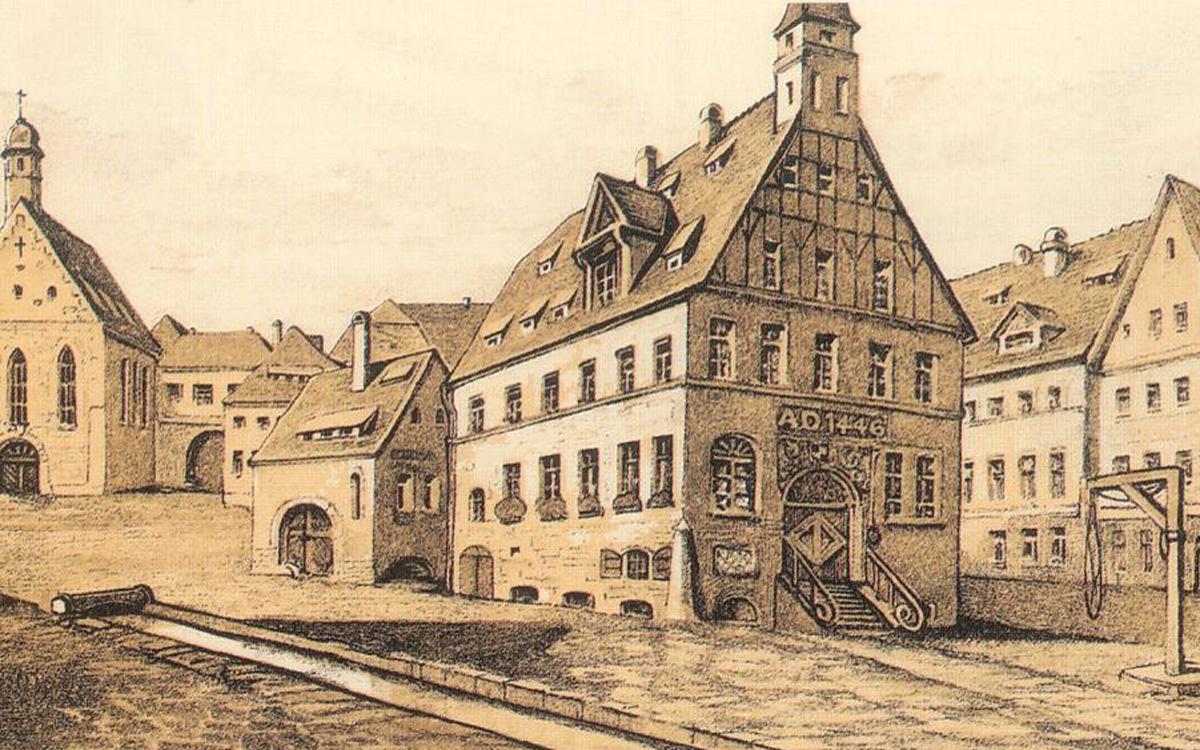 Beim Brand im Jahr 1621 wurde der Markt von der