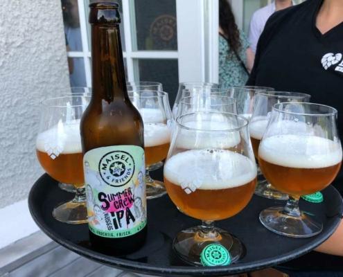 SummerCres Session IPA - das Bier der Azubis der Brauerei Maisel. Bild: Jürgen Lenkeit