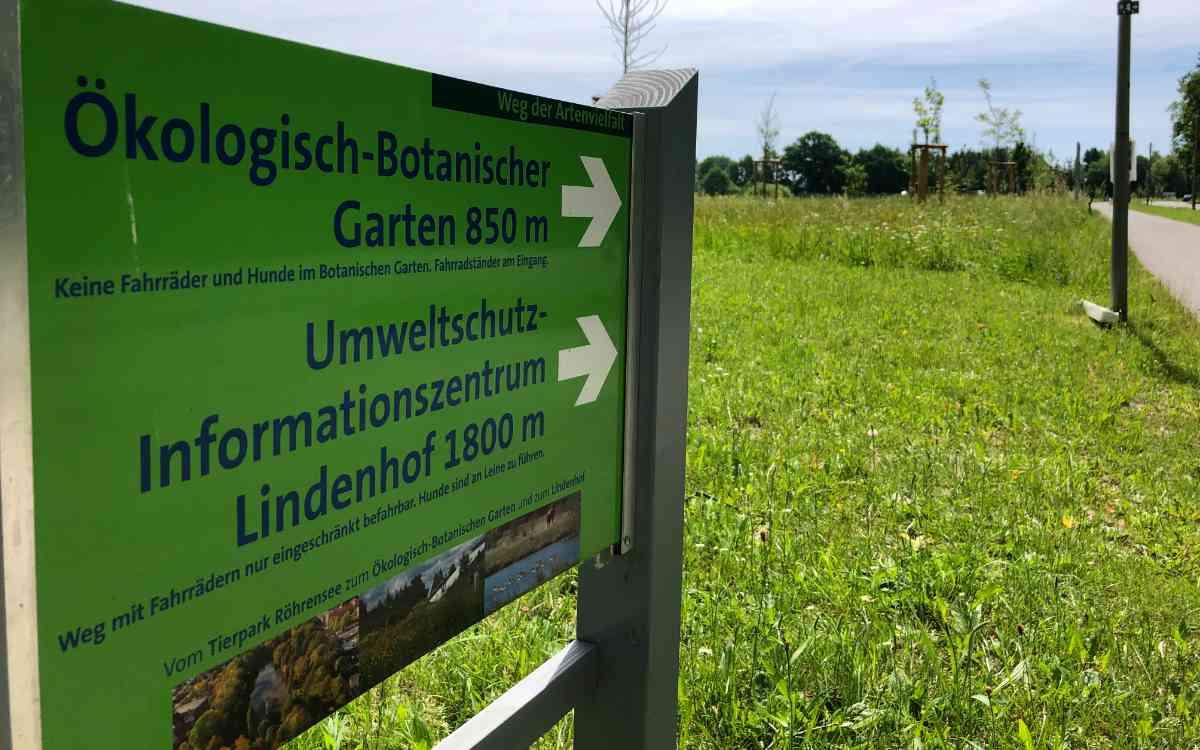 Bayreuths lebendiger Süden: Tierpark Röhrensee, Ökologisch-Botanischer Garten, UIZ Lindenhof und Studentenwald sollen zusammenwachsen. Bild: Jürgen Lenkeit