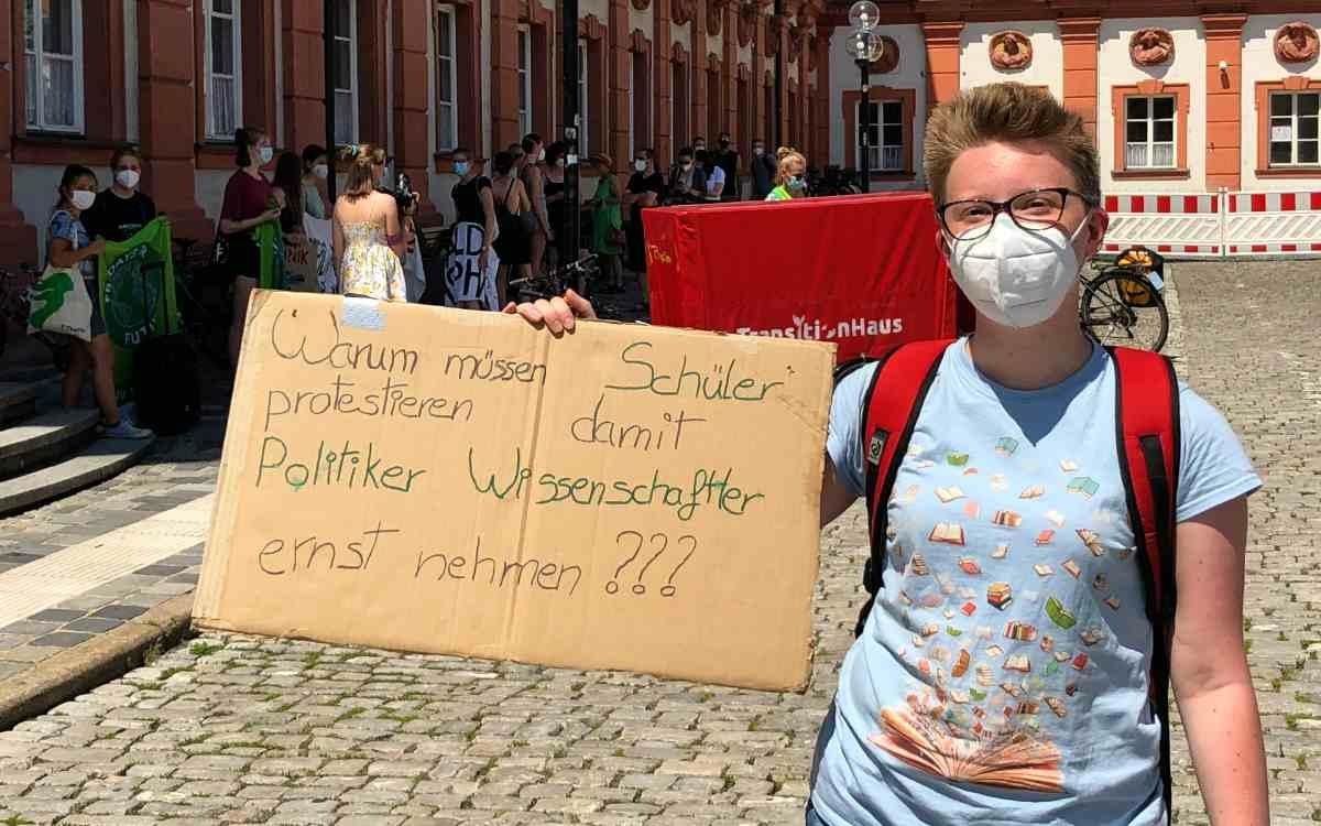 Fridays For Future in Bayreuth: Schüler stellen Fragen. Bild: Jürgen Lenkeit