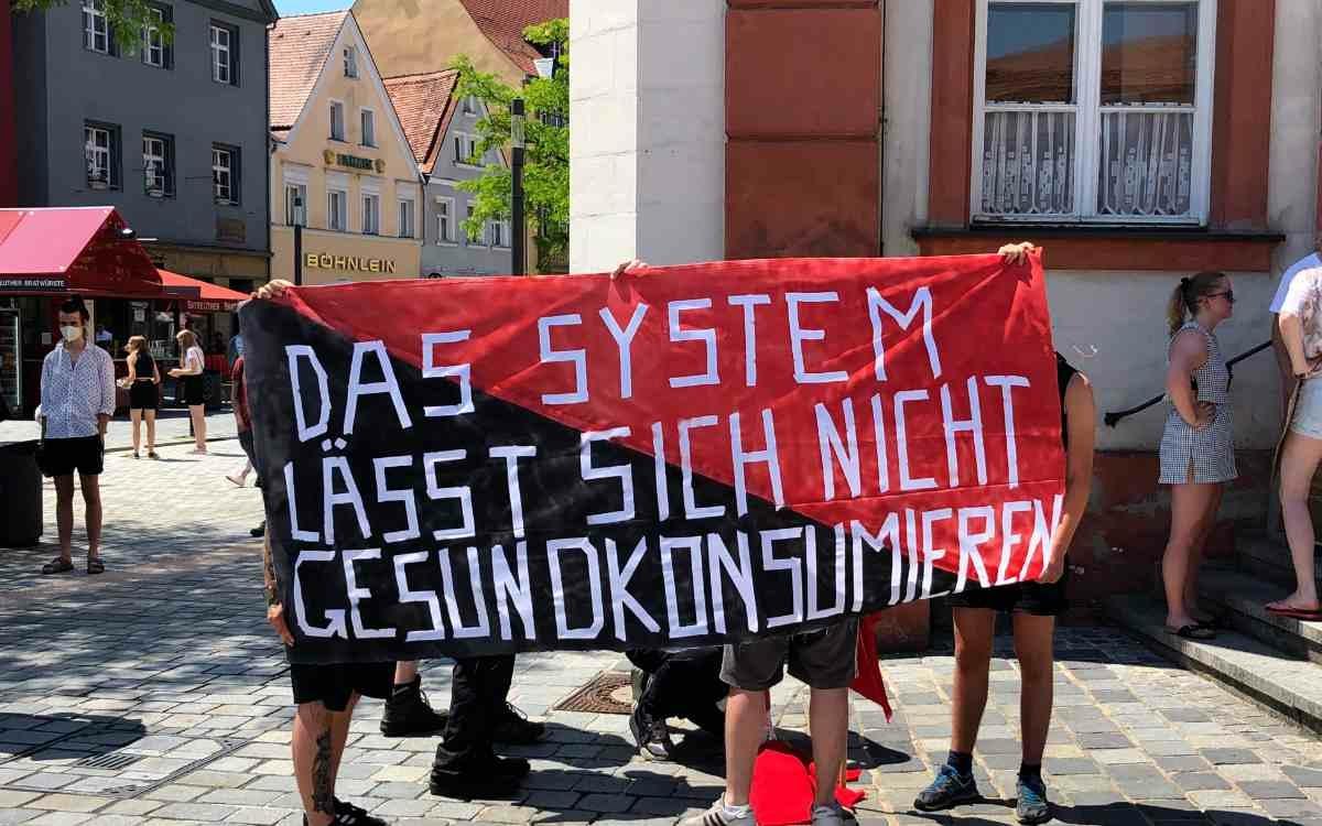 Es ging nicht nur ums Klima bei Fridays For Future in Bayreuth. Bild. Jürgen Lenkeit
