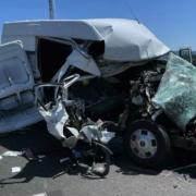 Bei einem Unfall im Landkreis Hof wurden zwei Personen schwer verletzt. Die Autobahn musste gesperrt werden. Foto: News5/Fricke