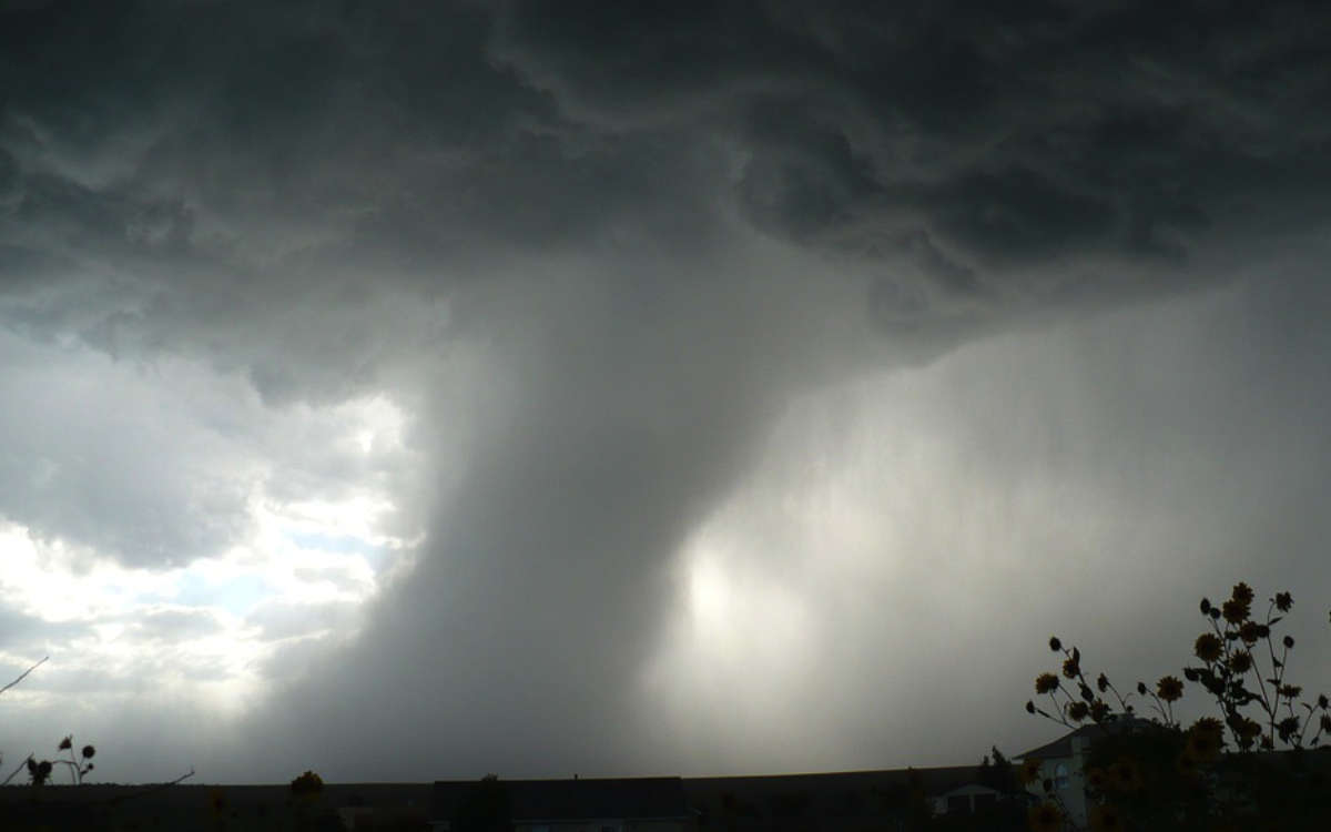 Wetter-Warnung in Franken: Experten schließen auch Tornado nicht aus. Symbolfoto: Pixabay