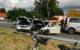 Heftiger Crash bei Selb: Der Unfallverursacher hatte wohl gesundheitliche Probleme. Er und zwei weitere Personen wurden ins Krankenhaus gebracht. Bild: Polizei Marktredwitz