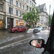 Hochwasser in Franken. Ein Landkreis hat am Freitag den Katastrophenfall ausgerufen. Symbolfoto: Pixabay