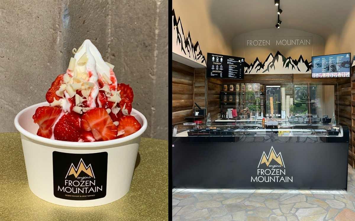 Frozen Joghurt in Bayreuth gibt es jetzt neu im Frozen Mountain in der Opernstraße. Fotos: Privat (Montage: Redaktion)