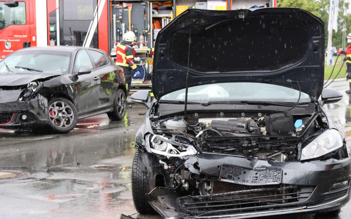 Unfall bei einem Möbelhaus in Bindlach. Foto: Kettel/NEWS5