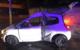 Verkehrsunfall am Wittelsbacherring in Bayreuth: Ein Auto krachte gegen eine Laterne. Foto: Privat