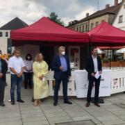 Der Impfcontainer in Bayreuth öffnet für diese Woche noch einmal seine Pforten. Archivfoto: Michael Kind