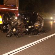 Tödlicher Motorradunfall auf der A9 bei Gefrees: Ein Mann wurde von zwei Autos überrollt. Foto: NEWS5/ Holzheimer