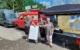 Mit seinem BBQ-to-go-Mobil möchte Bernd Ströbel den Unwetteropfern im Rheinland gutes Essen bringen. Bild: Facebook - Bernecker BBQ Smoker
