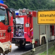 Die Feuerwehr aus Bayreuth und umliegenden Gemeinden ist aus dem Ahrtal zurückgekehrt. Bild: Feuerwehr Pegnitz / Facebook