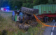 Traktor baut Unfall bei Plankenfels im Kreis Bayreuth. Foto: Merzbach / News5
